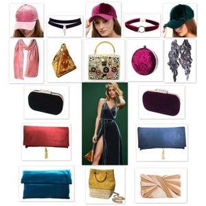 Accessories - Tigerstars Blush Pink Pleated Velvet Scarf